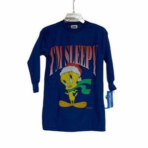 Vtg 1996 Looney Tunes Tweety Bird I'm Sleepy Sz 6